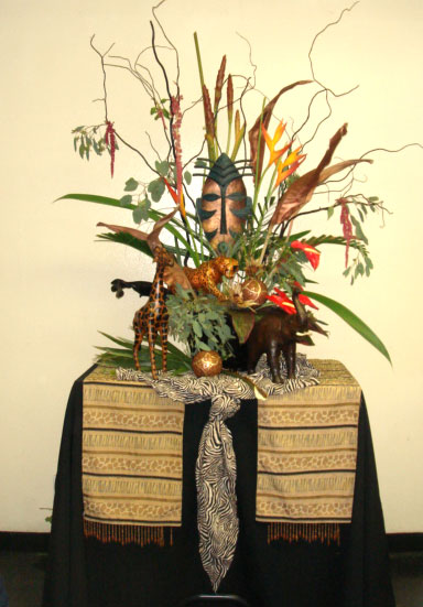 Out of africa party decor for Out of africa style decorating