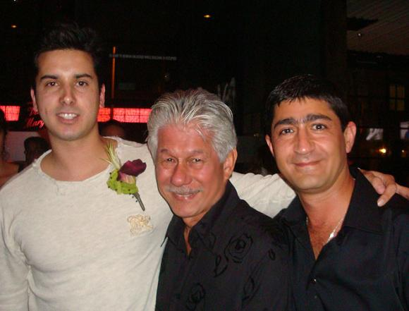 Contestants Anil Pacheco and Eddie Zaratsian with Phil