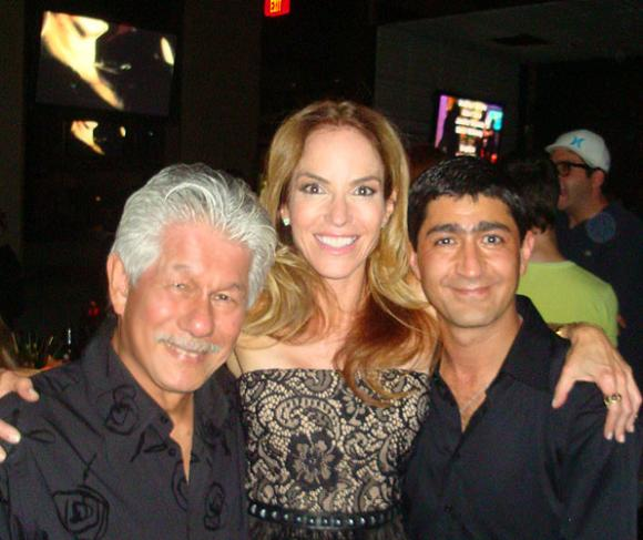 Host Gigi Levangie Grazer with Phil and contestant Eddie Zaratsian