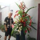 Phil with a large Tropical Arrangement